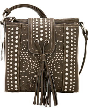 Bandana by American West Mesa Collection Organized Crossbody, Chocolate, hi-res