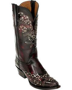 Ferrini Wild Diva Cowgirl Boots - Snip Toe, Black Cherry, hi-res