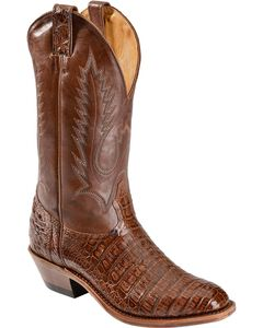 Boulet Caiman Belly Cowboy Boots - Round Toe, , hi-res