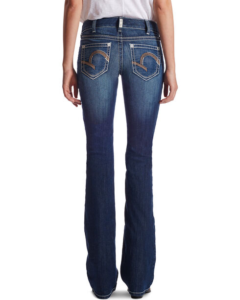 Ariat Women's Indigo Mid-Rise Morgan Lakeshore Jeans - Boot Cut , Blue, hi-res