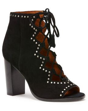 Frye Women's Black Gabby Ghillie Stud Booties - Round Toe, Black, hi-res