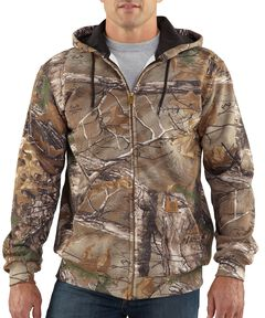 Carhartt Realtree Xtra® Camo Midweight Hooded Zip-Front Sweatshirt, Camouflage, hi-res