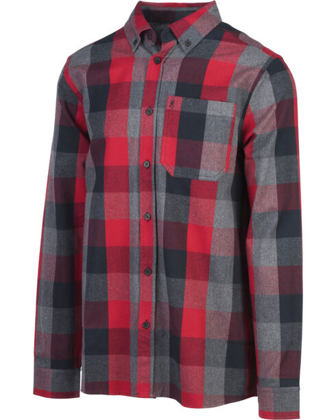 Browning Men's Red Crawford Flannel Shirt , Red, hi-res