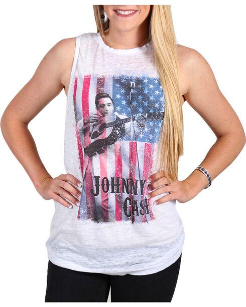 Signorelli Women's Johnny Cash Muscle Tank, White, hi-res