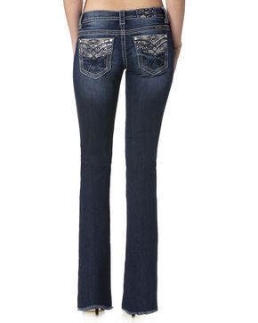 Miss Me Women's Indigo Heavy Stitched Jeans - Boot Cut , Indigo, hi-res