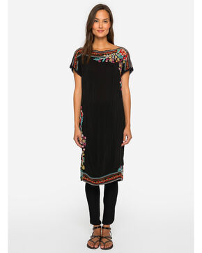 Johnny Was Women's Janice Embroidered Tunic, Black, hi-res