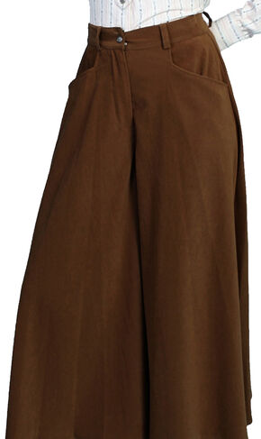 Scully Sueded Riding Skirt, Brown, hi-res