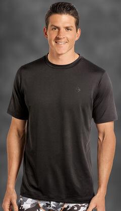 Rock and Roll Cowboy Men's Black Crew Neck T-Shirt , Black, hi-res