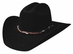 Bullhide Buckaroo 6X Premium Wool Cowboy Hat, Black, hi-res