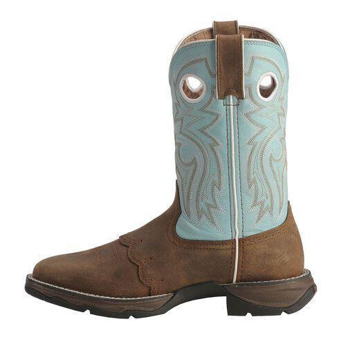 Durango Blue Flirt Saddle Cowgirl Boots - Square Toe, Bay Apache, hi-res