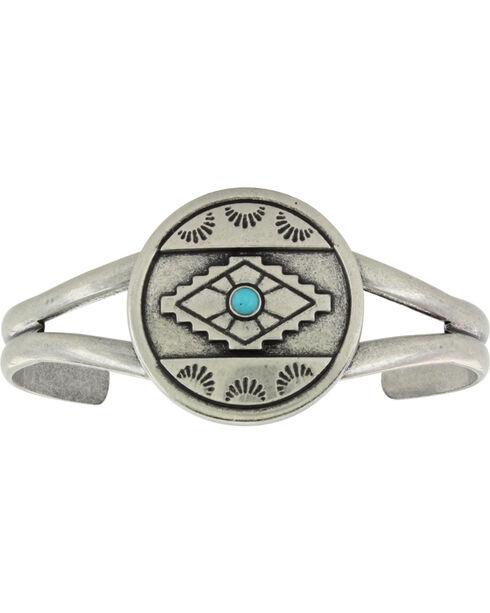 Montana Silversmiths Antiqued Aztec Eyes Cuff Attitude Bracelet, Silver, hi-res