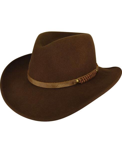 Bailey Men's Brown Prospector Wool Hat , , hi-res