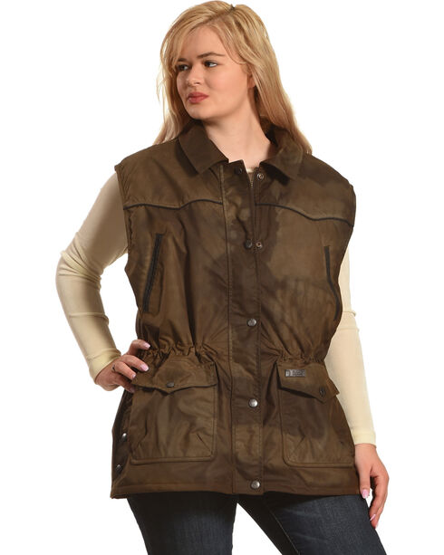 Outback Trading Co. Women's Bronze Round Up Vest , Bronze, hi-res