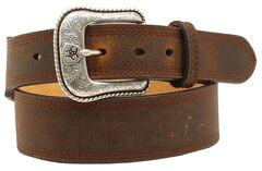 Ariat Basic Leather Belt, Distressed, hi-res