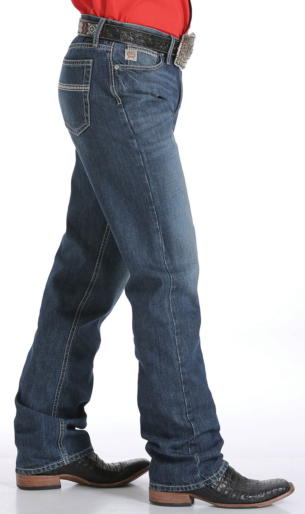 Cinch Men's Grant Mid-Rise Jeans - Boot Cut, Indigo, hi-res