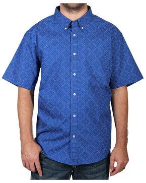 Cody James Men's Diamond Pattern Short Sleeve Shirt, Royal, hi-res
