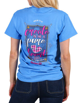 Cherished Girl Women's Blue Create In Me Tee - Plus , Blue, hi-res