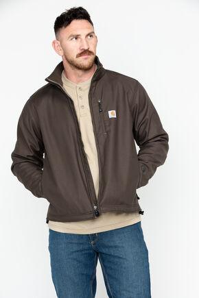 Carhartt Men's Pineville Softshell Jacket, Dark Brown, hi-res