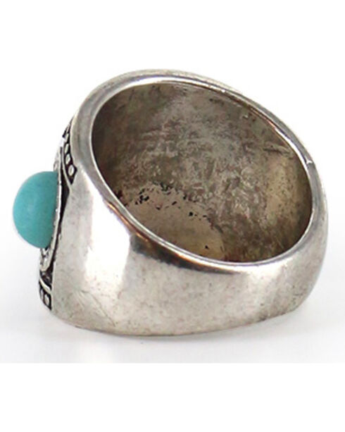 Shyanne Women's Turquoise Wide Ring, Silver, hi-res