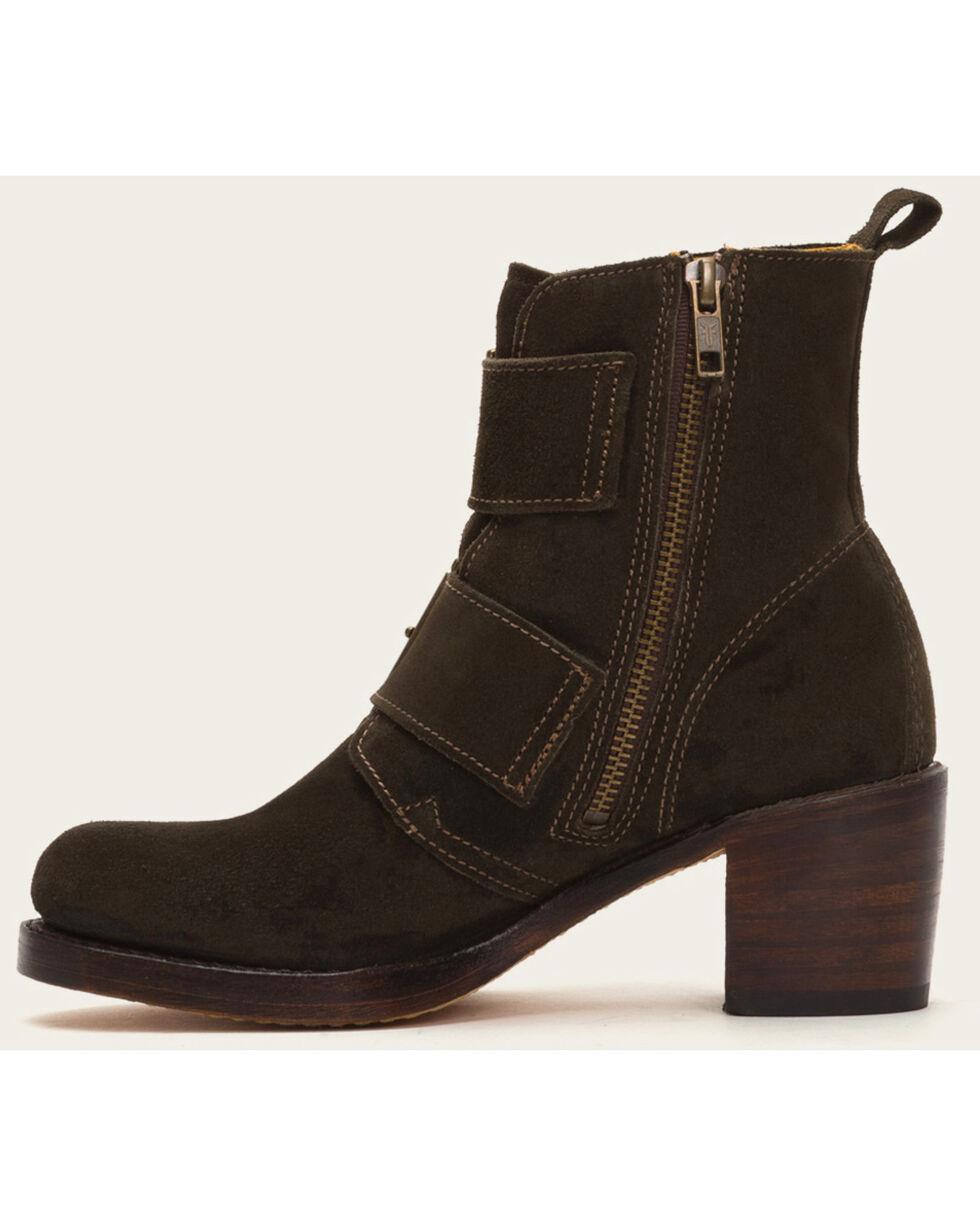 Frye Women's Sabrina Double Buckle Brown Suede Boots, Brown, hi-res