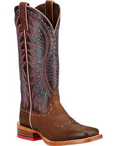 Ariat Vaquera Cowgirl Boots - Square Toe , , hi-res