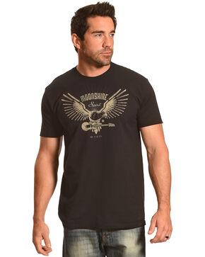 Moonshine Spirit Men's Built in the USA Eagle Tee, Black, hi-res