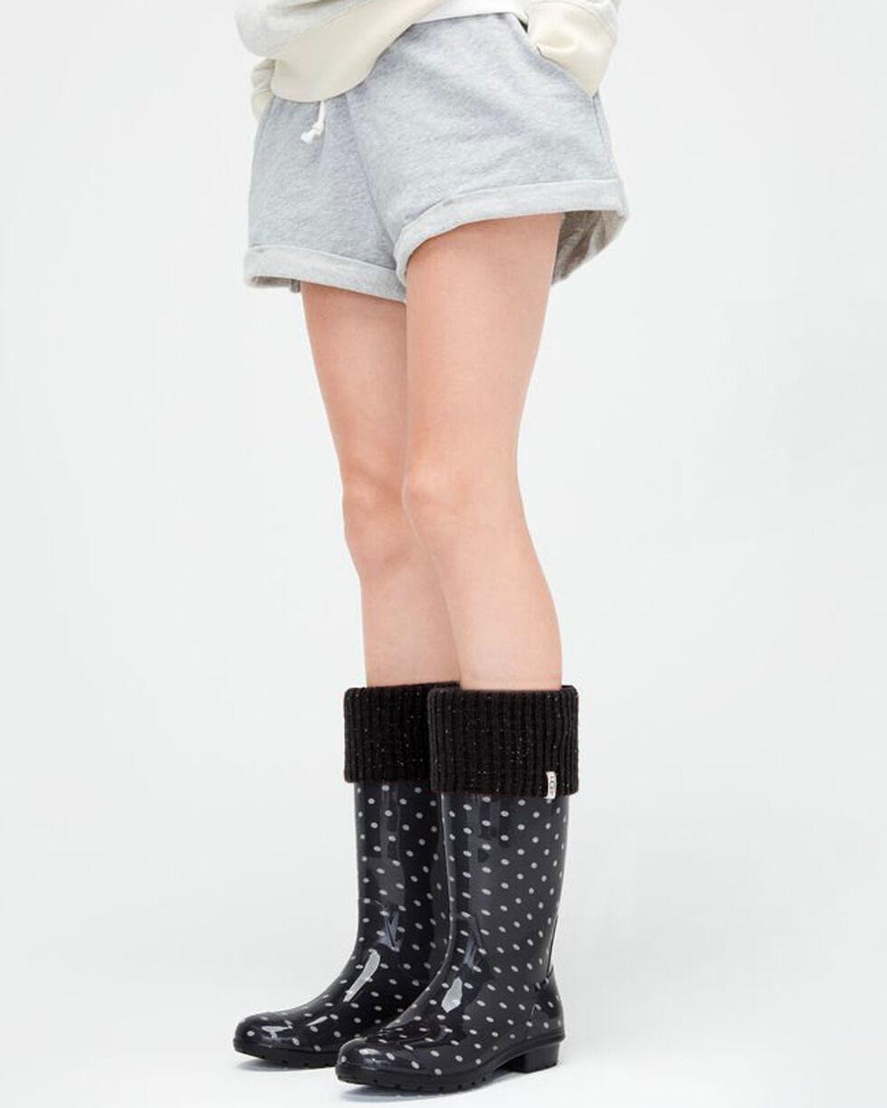 UGG Women's Black Shaye Tall Rain Boot Socks, Black, hi-res