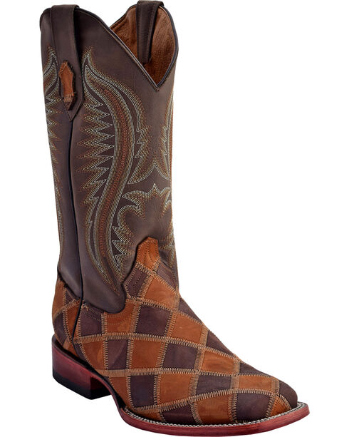 Ferrini Men's Maverick Patch Western Boots - Square Toe , , hi-res