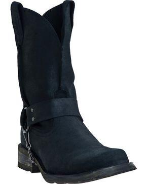 Dingo Axyl Harness Boots - Square Toe, Black, hi-res