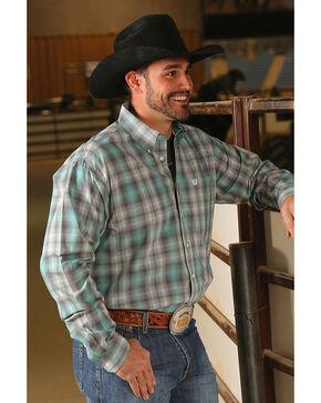 Cinch Men's Classic Fit Plaid Plain Weave Long Sleeve Button Down Shirt, Multi, hi-res
