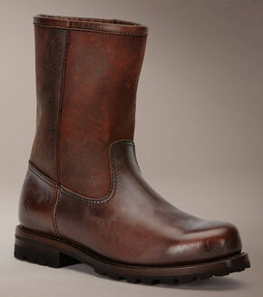 Frye Warren Pull On Boots, Dark Brown, hi-res