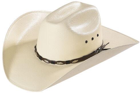 Bullhide Alamo 50X Shantung Straw Cowboy Hat, Natural, hi-res