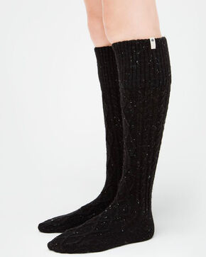 UGG Women's Black Shaye Tall Rain Boot Socks, Black, hi-res