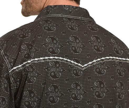 Cowboy Hardware Men's Black Barbed Paisley Print Shirt , Black, hi-res