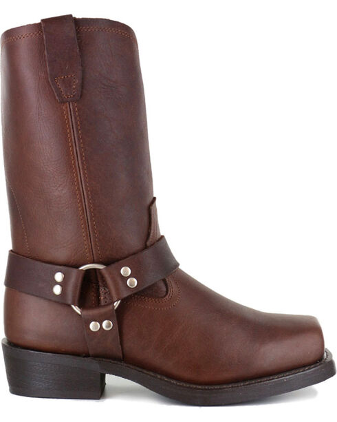 Cody James Men's Brown Harness Boots - Square Toe , Brown, hi-res