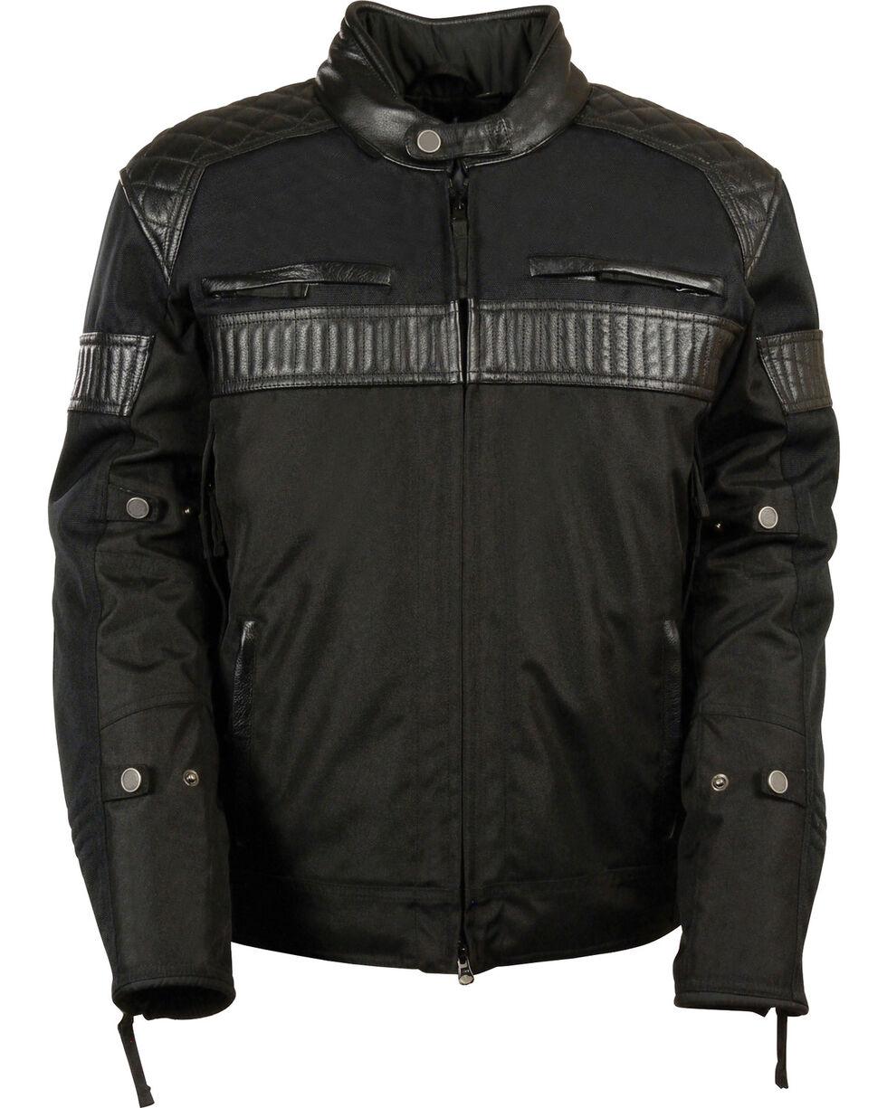 Milwaukee Leather Men's Black Textile Scooter Jacket - 5X, Black, hi-res