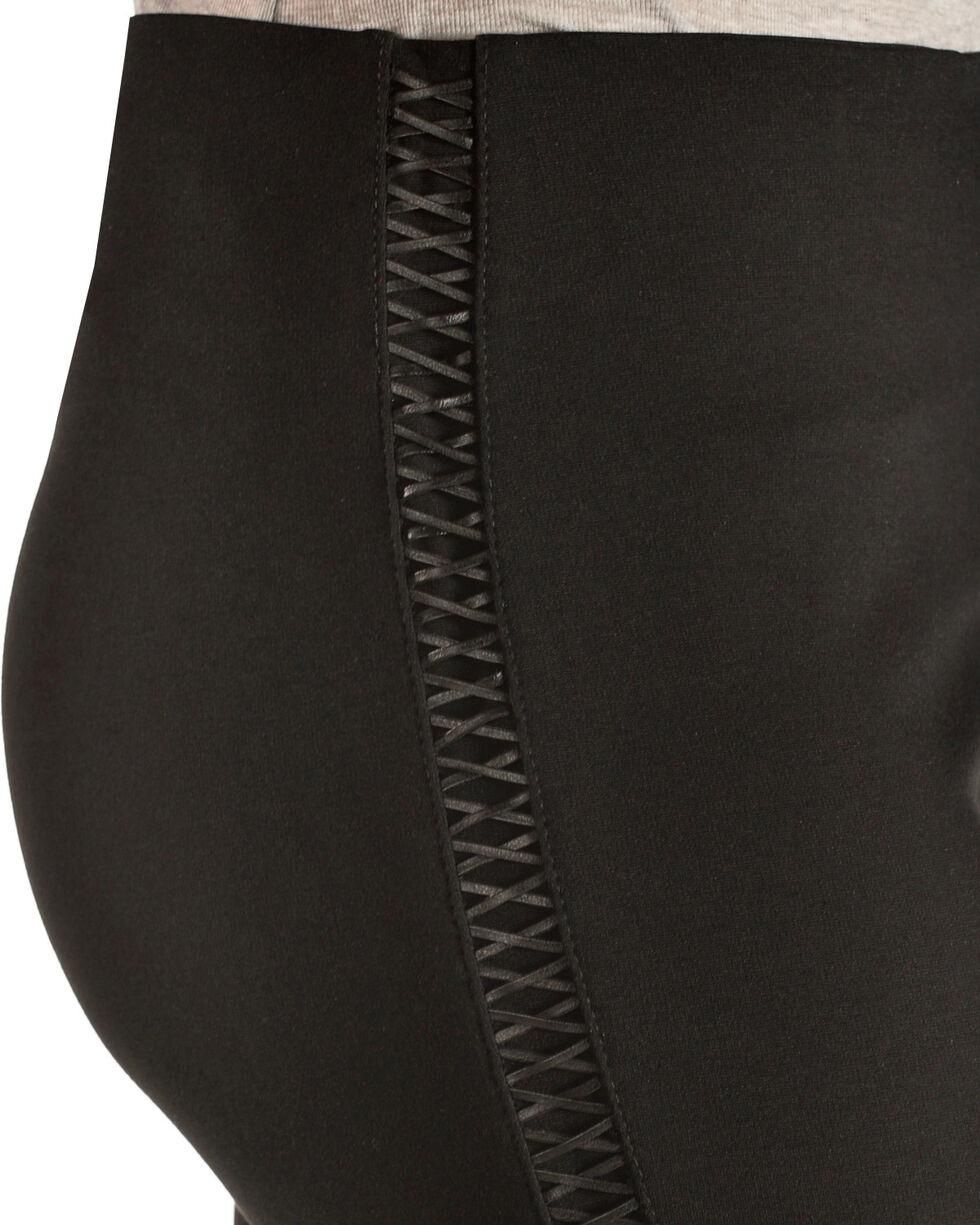 Boom Boom Jeans Women's Lace-Up Leggings - Plus, Black, hi-res