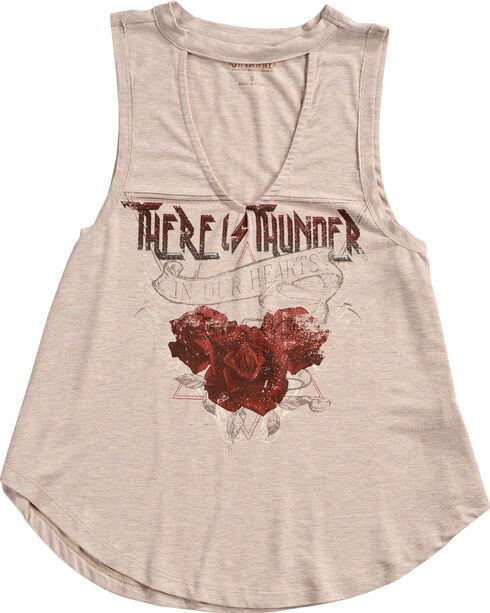 Shyanne Women's Thunder Roses Choker Graphic Tank , Oatmeal, hi-res