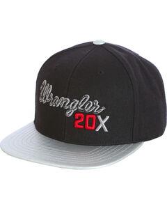 Wrangler Men's Black 20X Flat Bill Baseball Cap , Black, hi-res