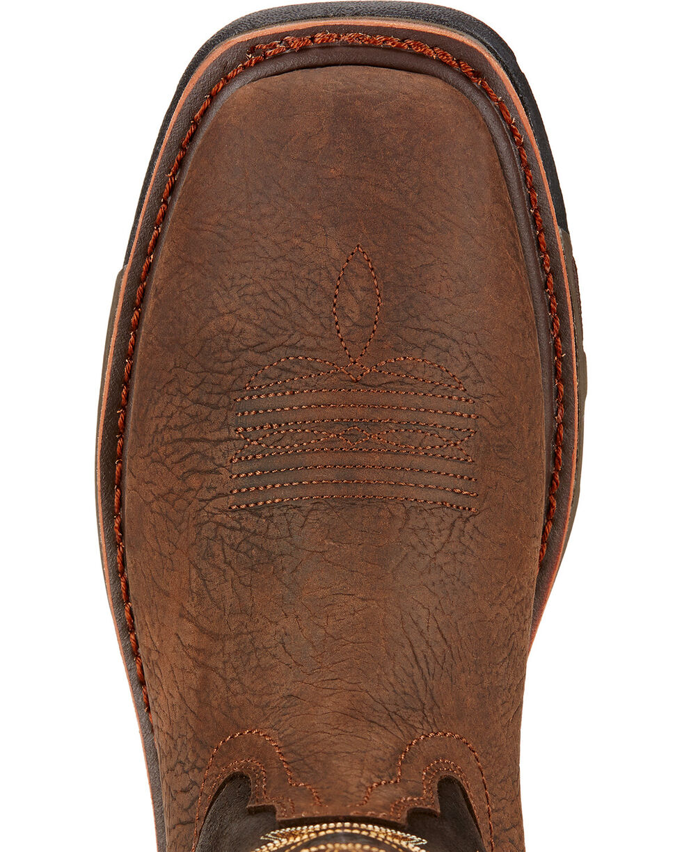 Ariat Workhog H2O Western Work Boots - Square Toe , Brown, hi-res