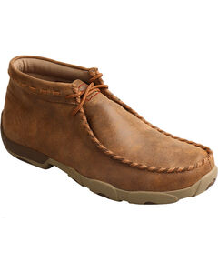 Twisted X Men's Bomber Driving Moccasin Boots - Round Toe , Taupe, hi-res