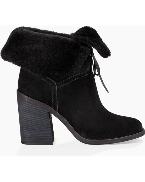 UGG Women's Black Jerene Fashion Boots - Round Toe , Black, hi-res