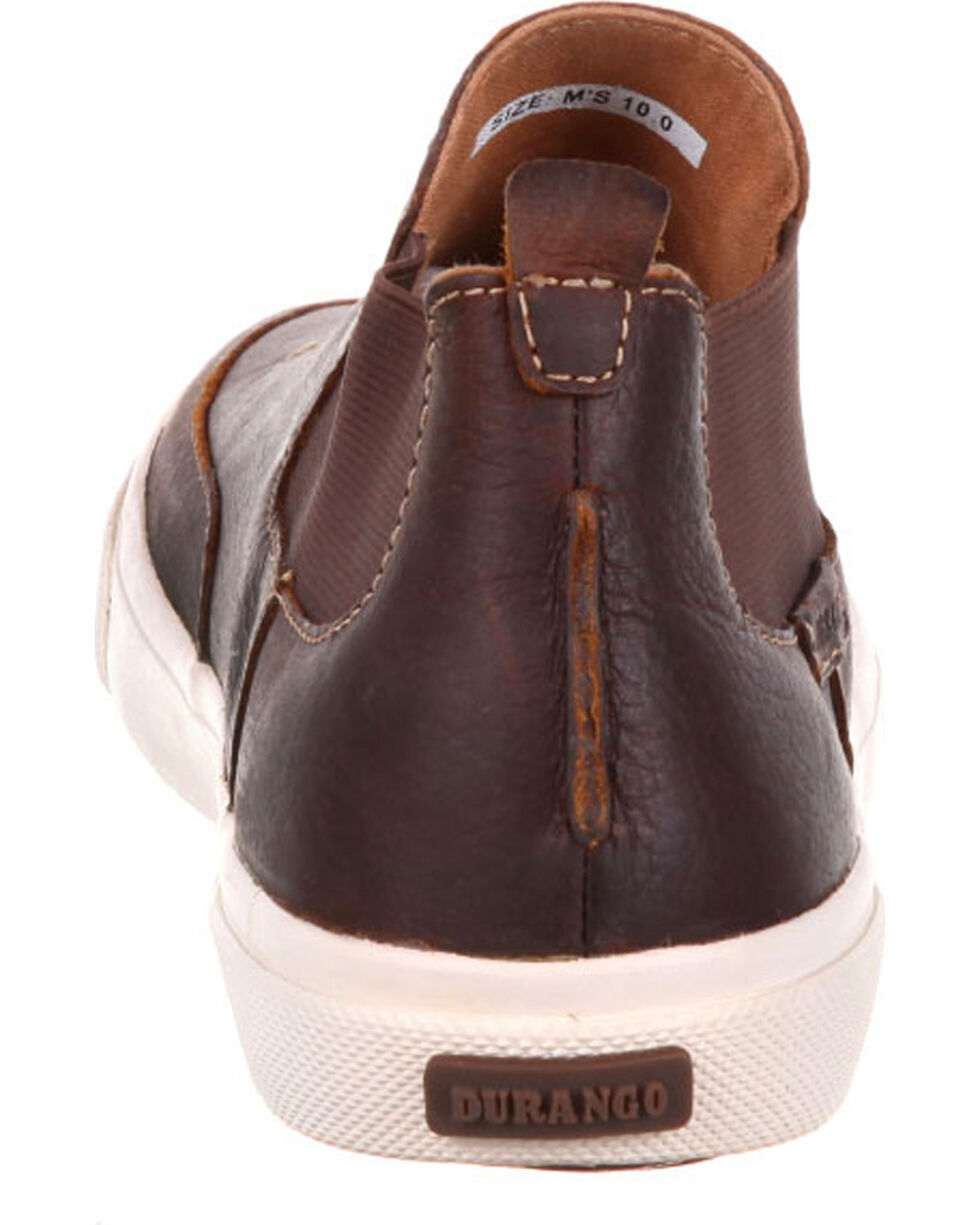 Durango Men's Music City Twin Gore Leather Sneakers, Brown, hi-res