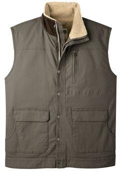 Mountain Khakis Men's Ranch Shearling Vest, Bark, hi-res