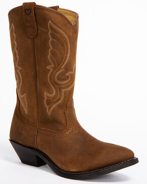 "Shyanne Women's 11"" Brown Western Boots - Medium Toe, Brown, hi-res"
