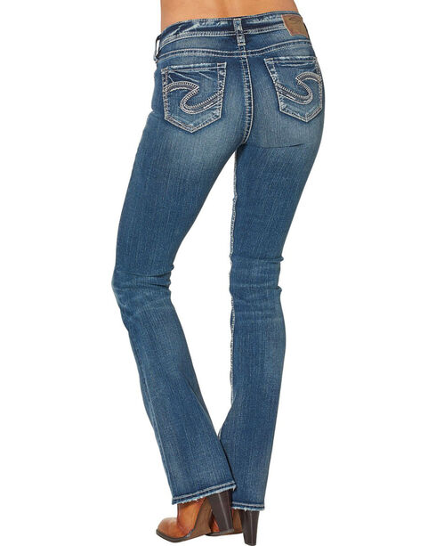 Silver Women's Tuesday Mid Boot Dark Wash Jeans, Blue, hi-res
