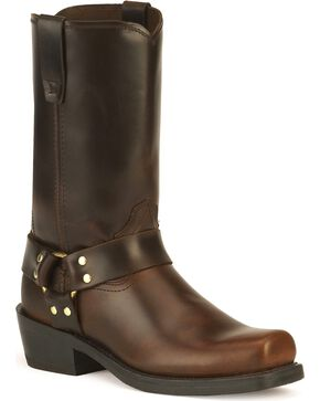 Durango Harness Cowboy Boots - Square Toe, Brown, hi-res