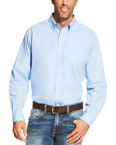 Ariat Men's Light Blue Wrinkle Free Button Up Shirt , Light Blue, hi-res
