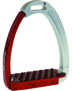 Tech Stirrups Silver and Red Tech Venice Stirrups, Multi, hi-res
