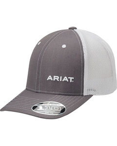 Ariat Men's Grey Pinstripe Pattern Baseball Cap , Grey, hi-res
